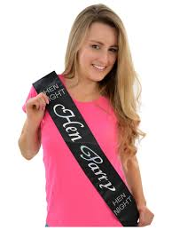 black sash hen party satin luxury sash hen party superstore