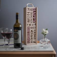 wine bottle gift box bespoke wine bottle gift box add your own 10 words bespoke