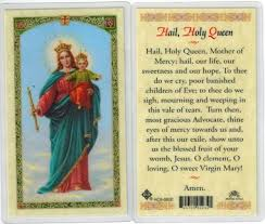 prayer card our of victory hail holy laminated prayer card