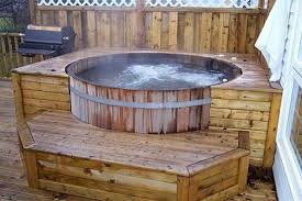 Wood Fired Bathtub Wooden Tubs Outdoor Wooden Round Tubs For 2 8 Person For
