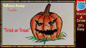 Halloween Drawings Easy Scary Pumpkin Halloween Drawing Easy Step By Step Youtube