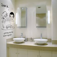 cool wall quotes for bathroom renovation ideas with bowl faucet