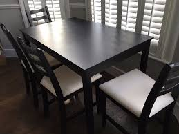 ikea black brown dining table ikea lerhamn table with 4 chairs black brown in acton london