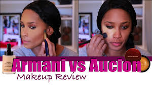 makeup review armani vs kevyn aucoin youtube