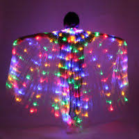 Light Up Costumes Led Isis Wings Belly Dance Cosplay Glow Show Light Up Costume