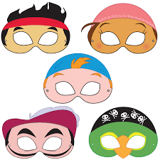 neverland pirates printable masks printable by happilyafterdesigns