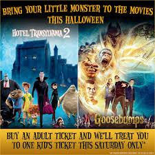 kids u0027 hotel transylvania and goosebumps admission is on us on