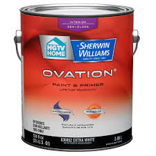 shop hgtv home by sherwin williams ovation white semi gloss latex