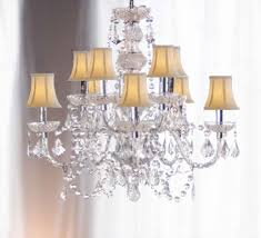 Mini Shade Chandelier Enchanting Shade Crystal Chandelier On Small Home Interior Ideas