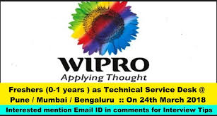 best resume format for engineering students freshersvoice wipro wipro hiring freshers 0 1 years as technical service desk