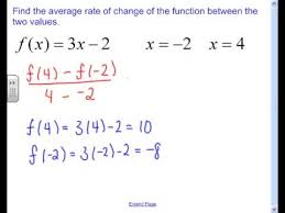 How To Find The Rate Of Change In A Table 2 4 Average Rate Of Change For A Linear Equation
