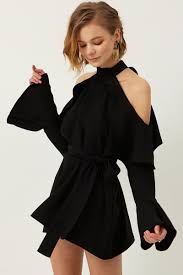 cold shoulder dress yena ruffle cold shoulder dress discover the fashion trends