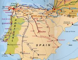Burgos Spain Map by John U0027s Camino Route Maps