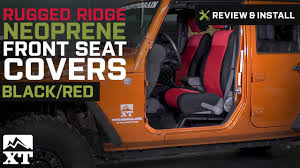 jeep wrangler rugged ridge neoprene front seat covers 2007 2010