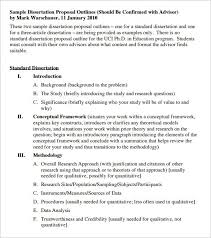 dissertation outline template u2013 10 free sample example format