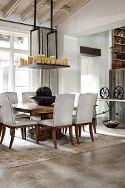 casual dining room lighting white french country wooden dining