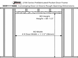 Framing Patio Door Framing A Pocket Door Opening Patio Doors And Pocket Doors