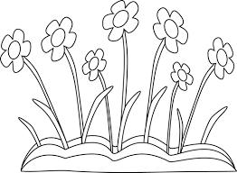 flower garden clip art black and white clip art library