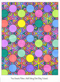 colored pages from geometric patterns coloring book for