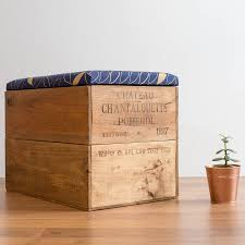 upcycled wine crate storage box by made anew notonthehighstreet com