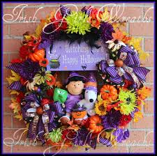 Pinterest Halloween Wreaths by Lucy And Snoopy Witching You A Happy Halloween Wreath Fall
