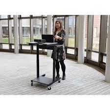 Sit Stand Desk Vancouver by Seville Classics Walnut Laptop Desk Web162 The Home Depot