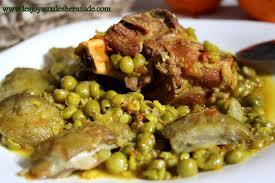cuisin algerien tajine agneau aus petits pois et aux artichauts les joyaux de