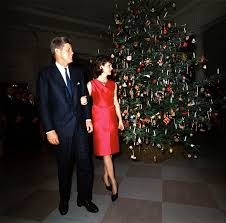 president and first lady at christmas reception 12 december 1962