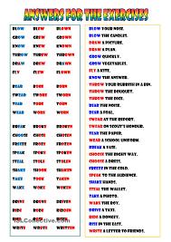 irregular verbs 1 poon pinterest irregular verbs worksheets