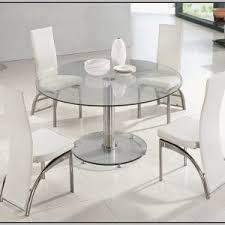 Circular Glass Dining Table And Chairs Round Glass Dining Table And Wicker Chairs Chairs Home