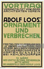ornament and crime poster by adolf loos for a lec pictures