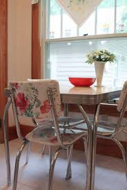 50 s kitchen table and chairs very cool idea for fixing upholstery on those awesome 50 s chrome
