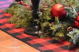 buffalo plaid table runner christmas plaid christmas plaid element pack original new year