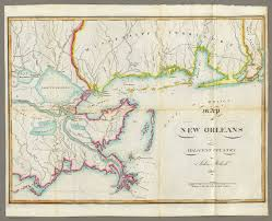 Map New Orleans by Map Of New Orleans And Adjacent Country David Rumsey Historical