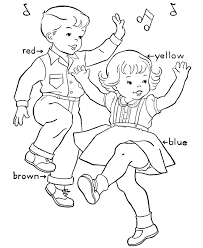 birthday coloring pages birthday party dance coloring book