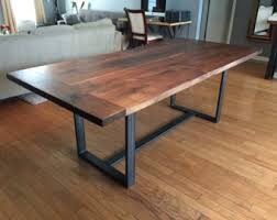 solid walnut dining table solid walnut dining table floating wide set