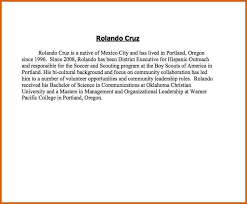 Cfo Resume Examples by Short Professional Bio Template Corpedo Com