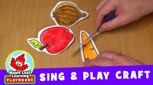 cut the carrot sing and play craft for kids maple leaf