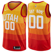 design a shirt in utah youth nike utah jazz customized swingman orange nba jersey city