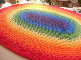 Organic Cotton Area Rug Braided Rainbow Rug 69 X89 Made From Organic Cotton And Reclaimed