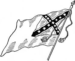 Black Confederate Flag Confederate National Flag No 2 Clipart Etc
