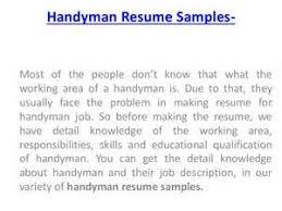Handyman Resume Examples by Handyman Skills For Resume Professional Resume Writer Portland Maine