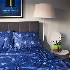 Sheet Bedding Sets Exclusive Doctor Who Bed Sheets Thinkgeek