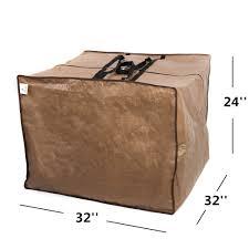 Patio Chair Cushion Storage Amazon Com Abba Patio Outdoor Square Protective Zippered Patio
