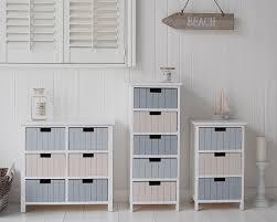 White Bathroom Storage Furniture Free Standing Bathroom Cabinet Furniture With 6 Drawers Sea