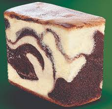 heavenly marble cake slice