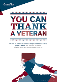 thank a veteran in your life with a great clips haircut woman