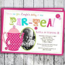 Princess Birthday Invitation Card Tea Party Birthday Invitation Tea Party Birthday Invite