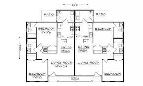 15 single story duplex with garage building plans of shining
