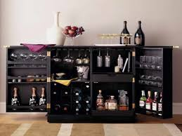 furniture appealing small locking liquor cabinet with double door